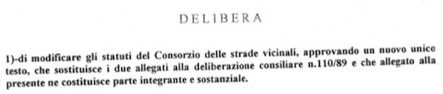 delibera n° 38 dell'8.7.1999